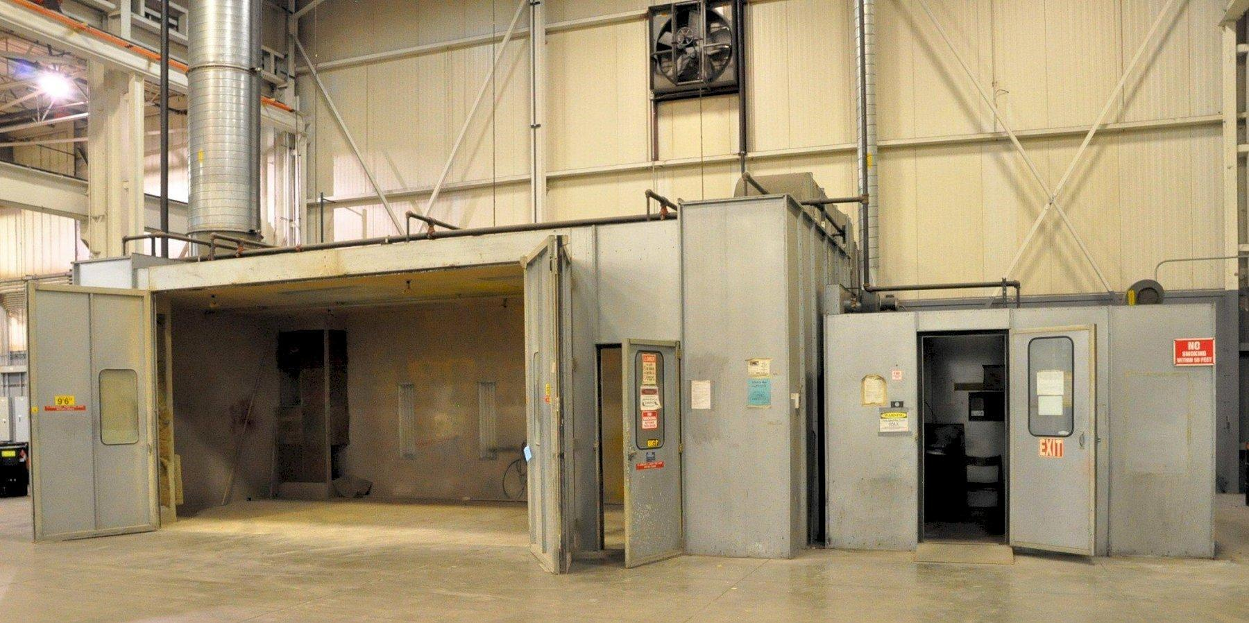 USED SPRAY SYSTEMS WATER COLUMN STYLE ENCLOSED PAINT SPRAY BOOTH, STK# 10661