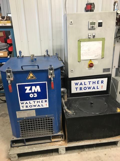 WALTHER TROWAL COMBINATION CD 400 VIBRATORY BOWL AND ZM 03 WATER CLEANING CENTRIFUGE SYSTEM