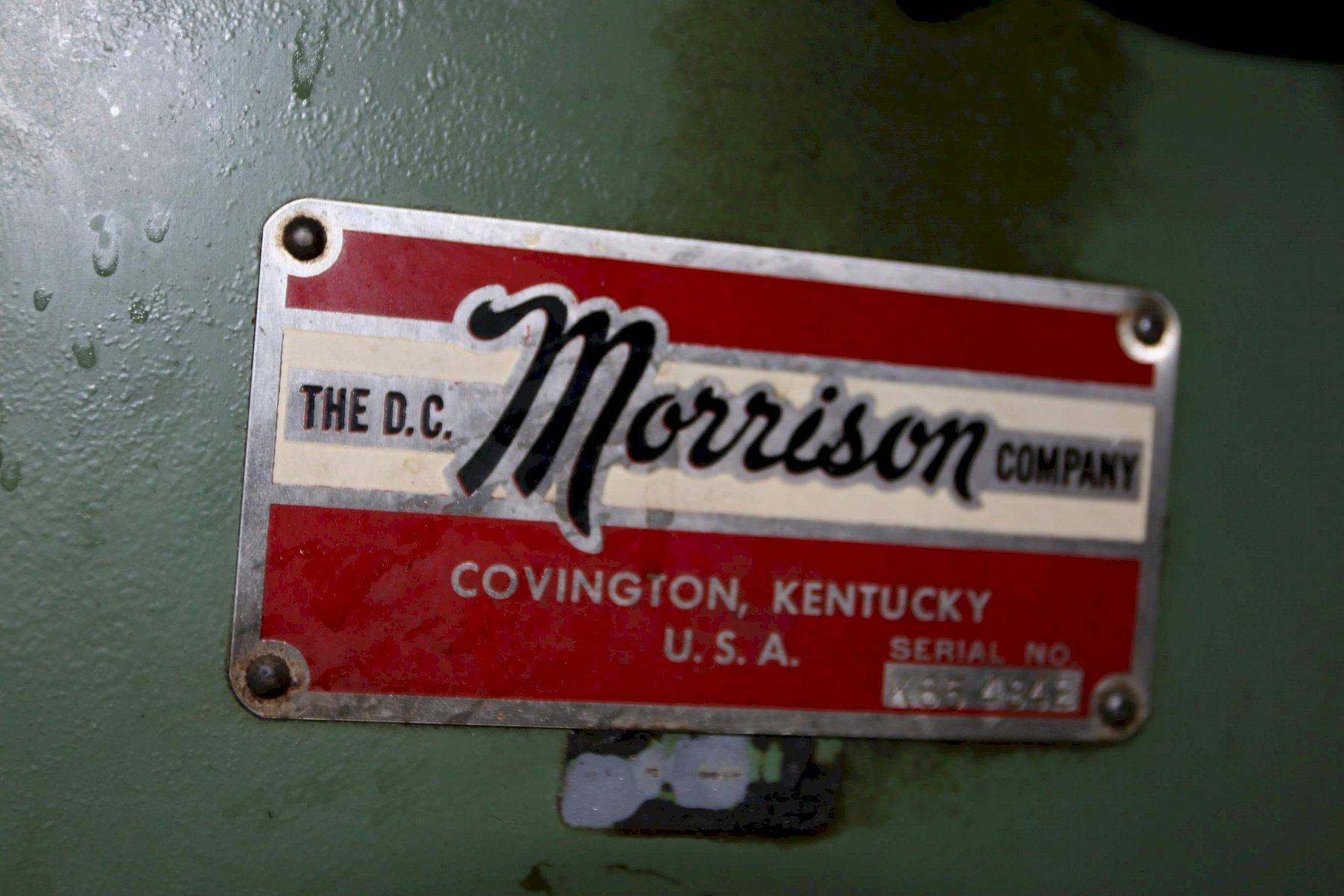 1.25' X 9' D C MORRISON MODEL #K KEYSEATER: STOCK 69602