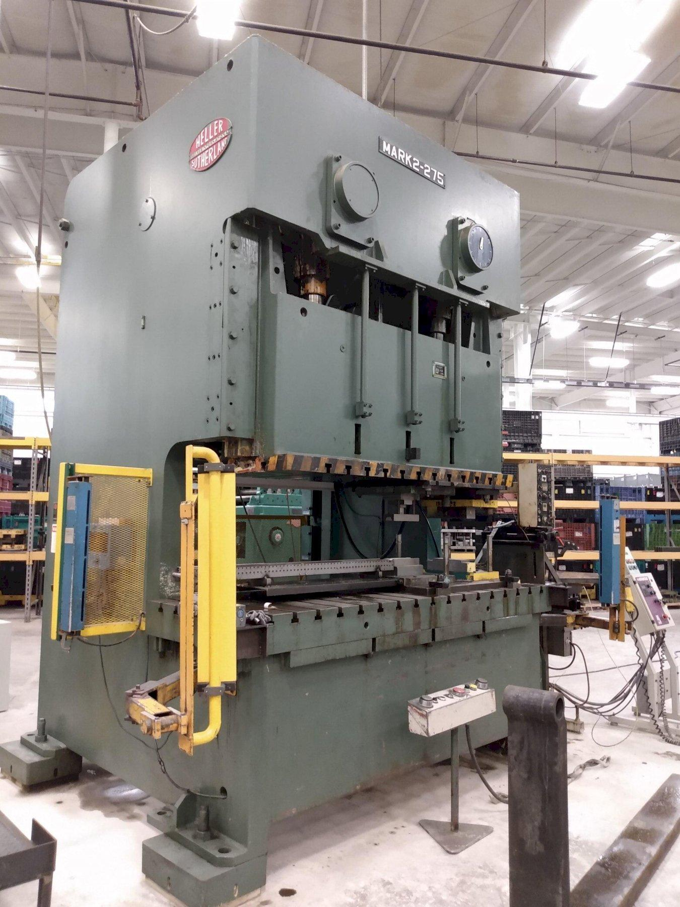 275 Ton Heller Sutherland Double Crank Gap Frame Press