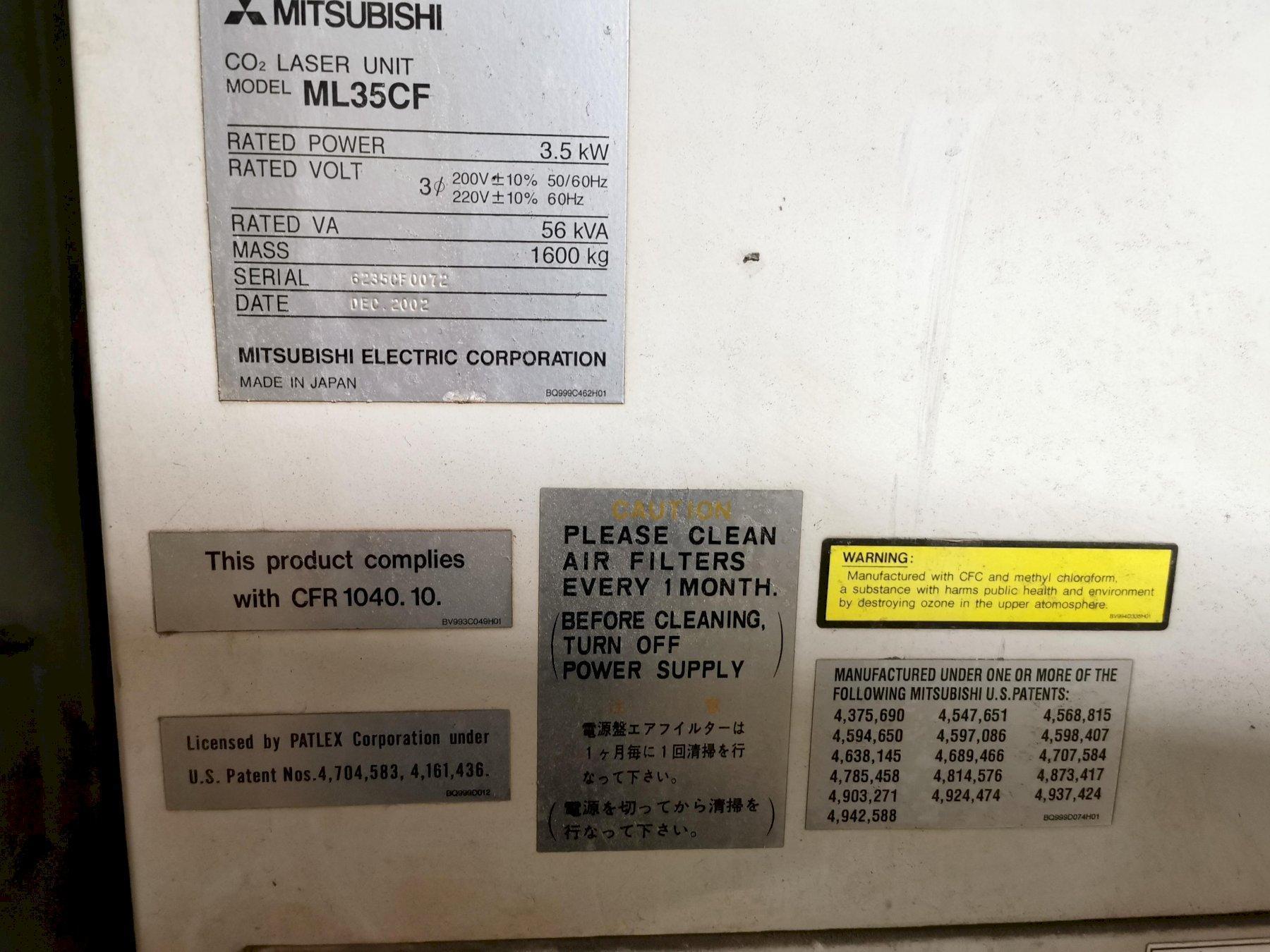 Mitsubishi CO2 Laser Processing System ML3015LVP (S)