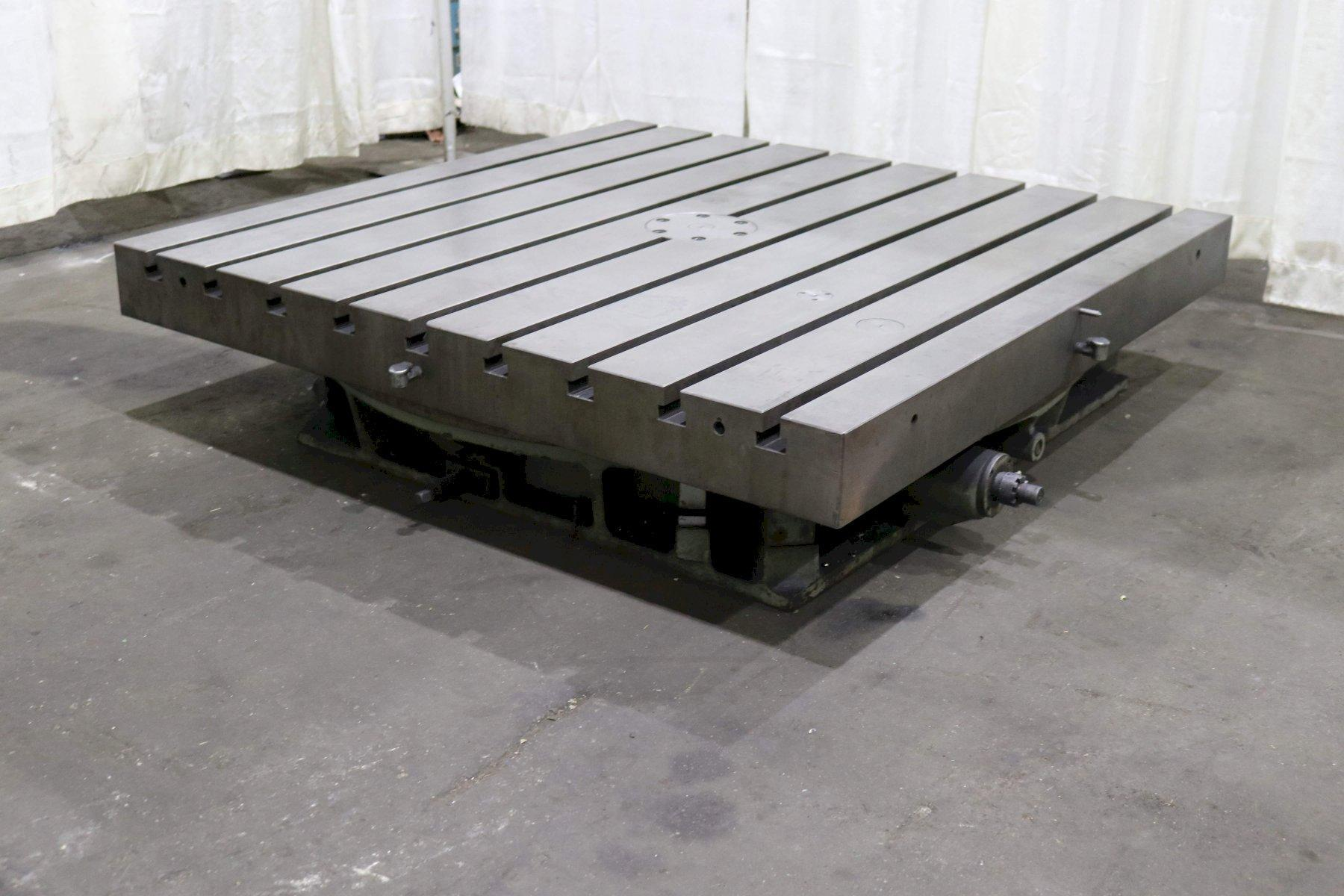 59' X 59' SHIBAURA T--SLOTTED ROTARY TABLE: STOCK #72371