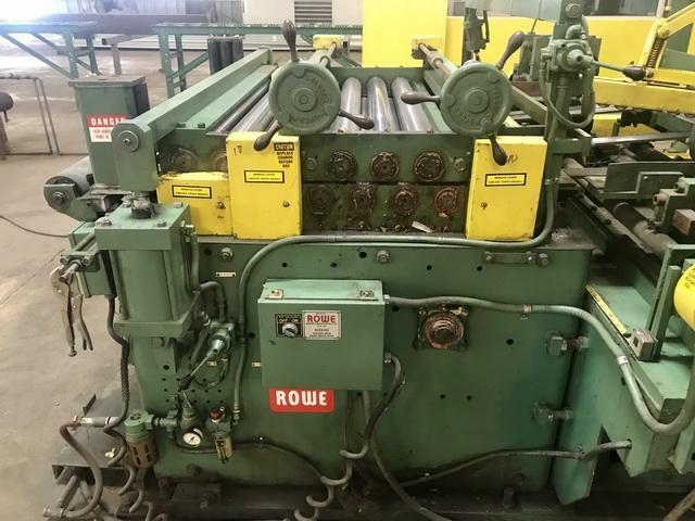 """52"""" x .075"""" x 30,000# Rowe/Herr Voss Cut-To-Length Line with Memco Embosser"""
