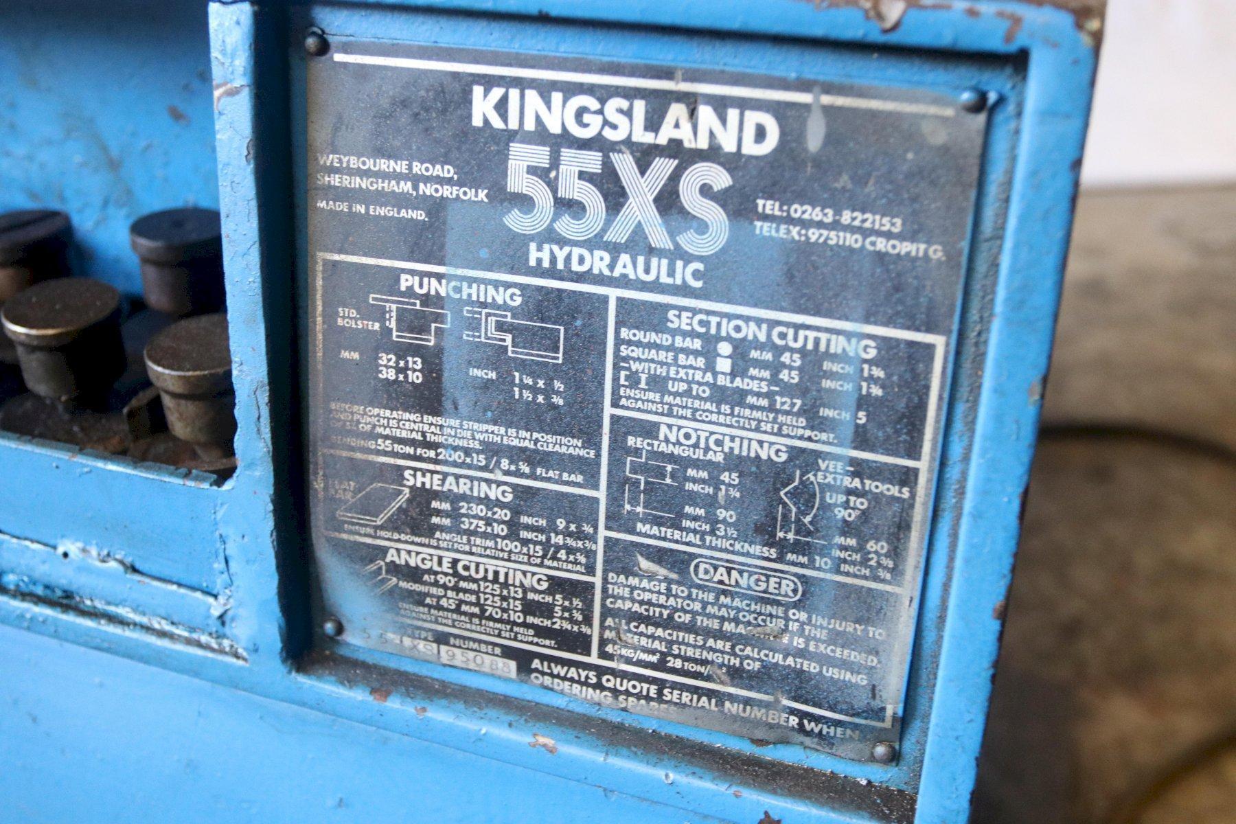 55 TON KINGSLAND MODEL 55XS HYDRAULIC IRONWORKER