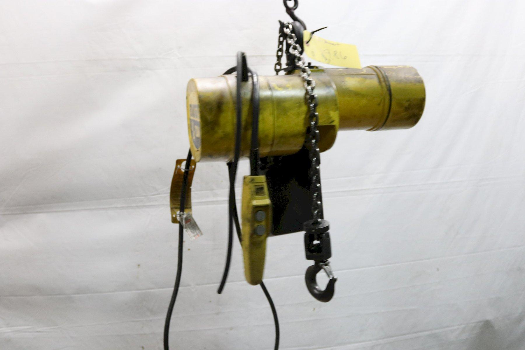 500 LB BUDGIT MODEL #BEHC2516 ELECTRIC POWERED CHAIN HOIST:   STOCK #11986