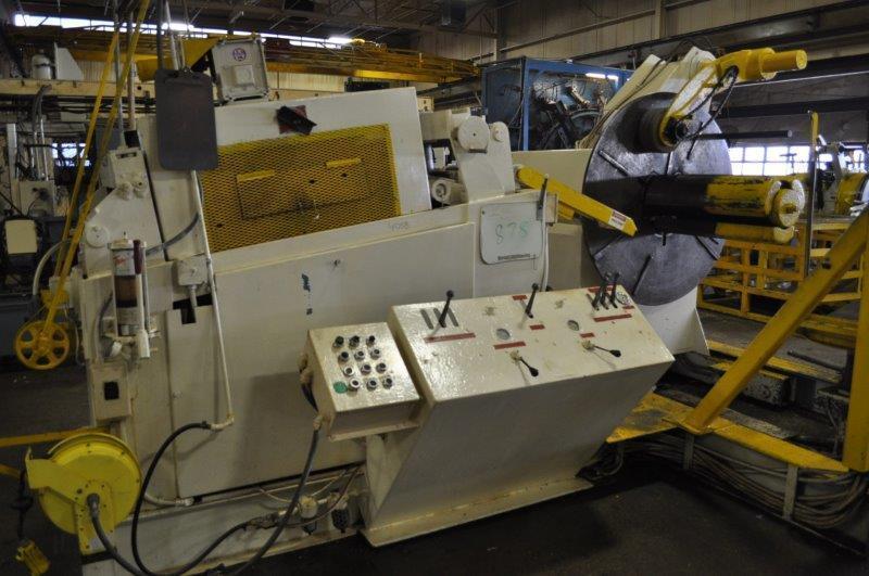 """15000 LB x 24"""" x .187"""" American Steel Line Uncoiler Straightener Combination"""