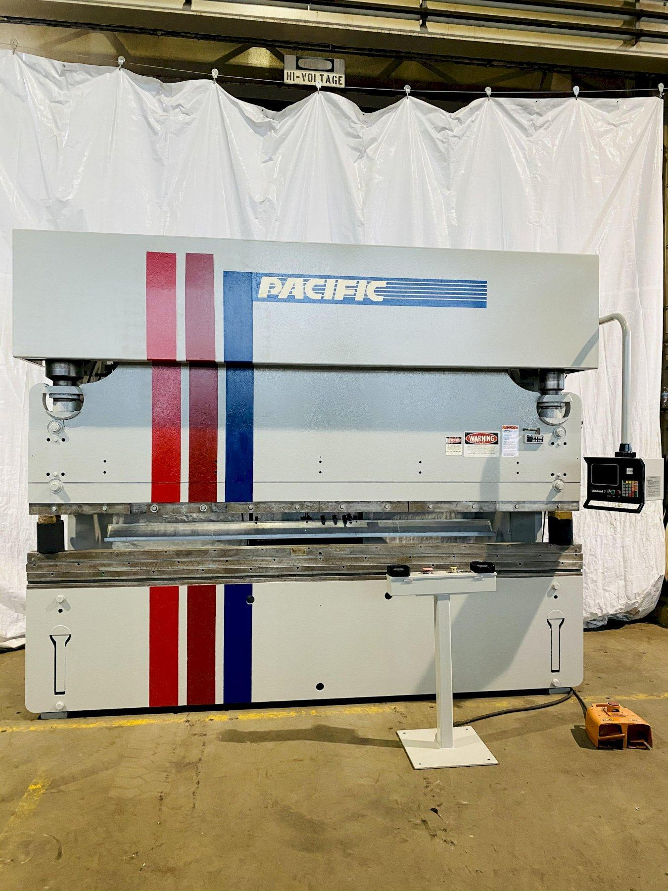175 TON X 12' PACIFIC MODEL J175-12 II HYDRAULIC PRESS BRAKE W/ HURCO AUTOBEND 7 BACKGAUGE. STOCK # 1058120