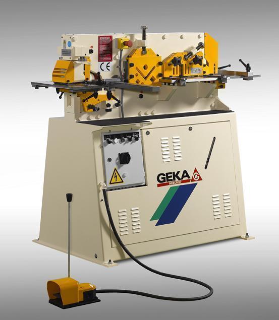 50 Ton, New GEKA Hydraulic Ironworker Model Minicrop
