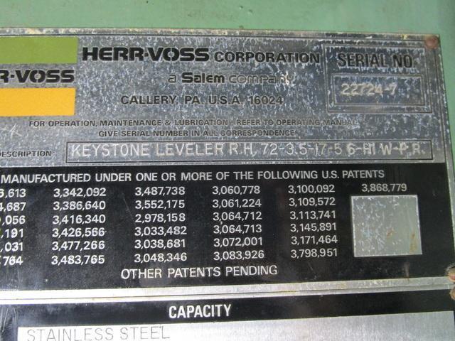 """72"""" x .250"""" Herr Voss 6HI Leveler"""