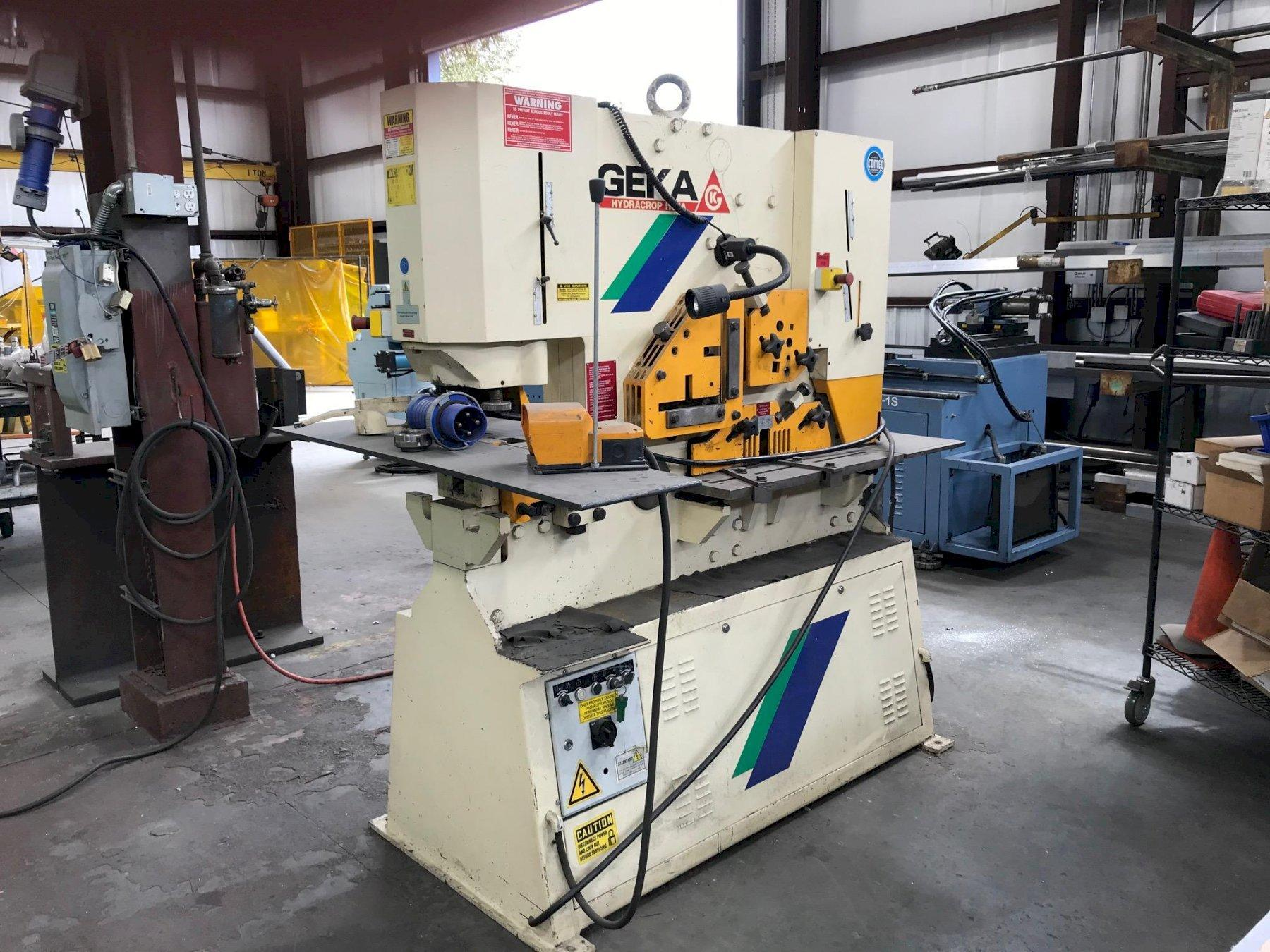 "110 TON GEKA HYDRACROP MODEL 110A, NEW 2006, 6 X 6 X 1/2"" CAP., MISC. TOOLING"