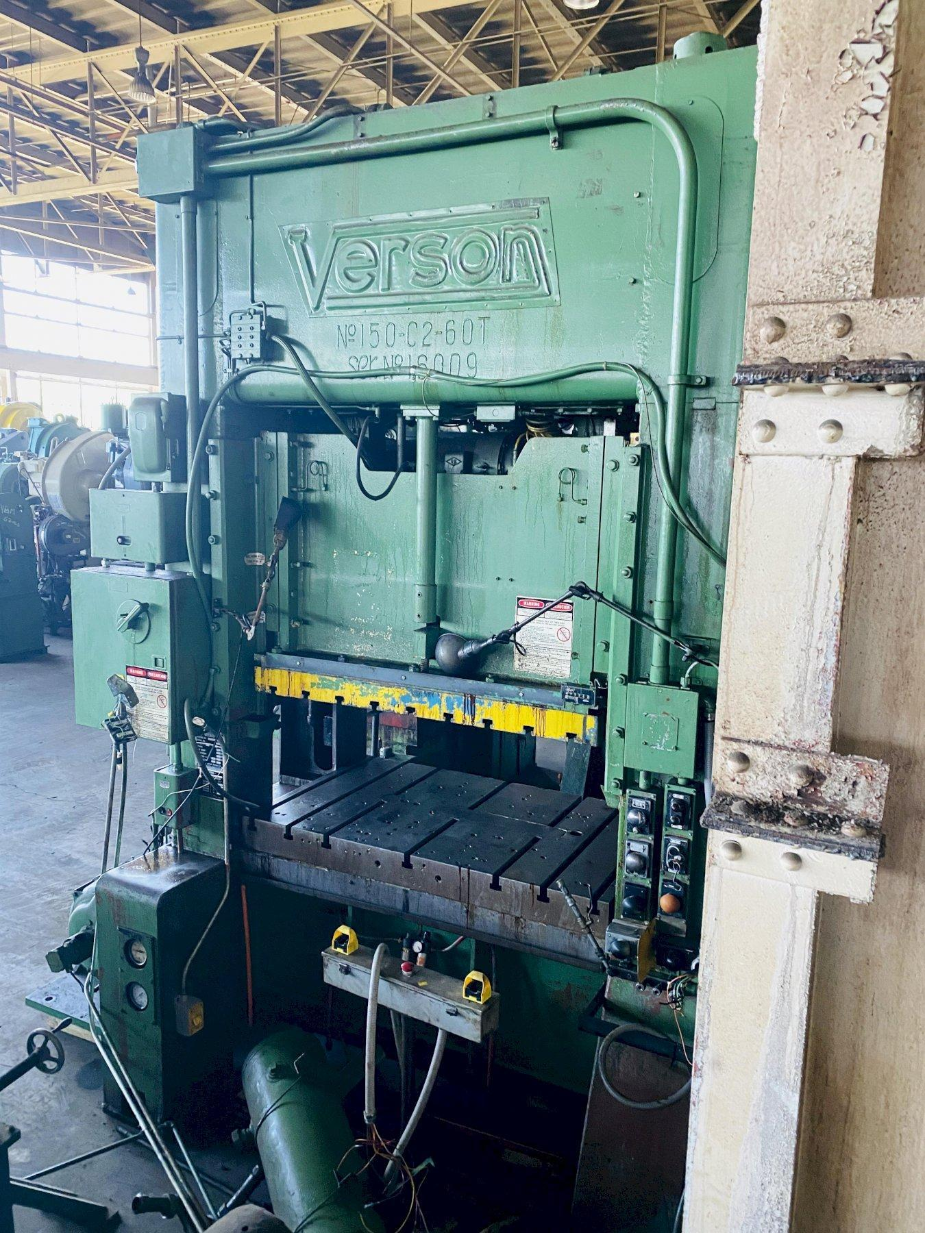 150 Ton Verson 150-C2-60T Straight Side Press