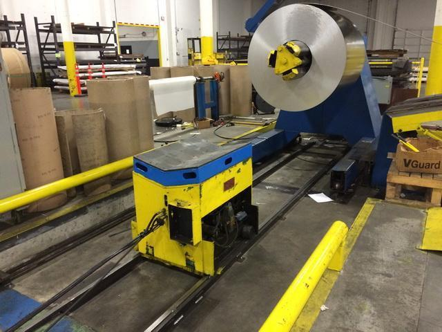 """40,000# x 72"""" RBI Mandrel Uncoiler with Coil Car"""