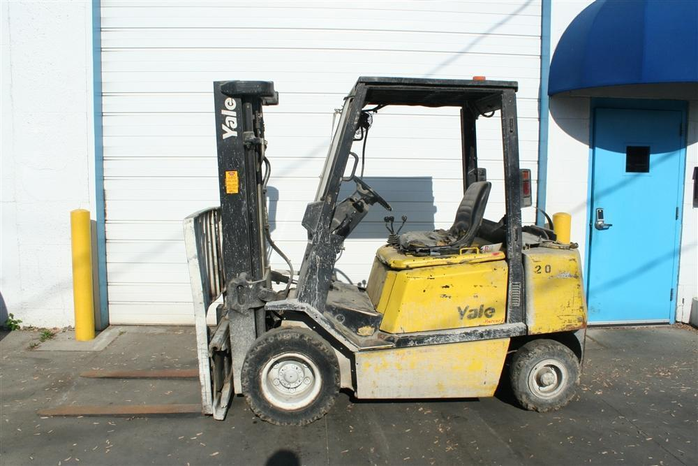 5000 LBS YALE LP GAS FORKLIFT: STOCK #60030