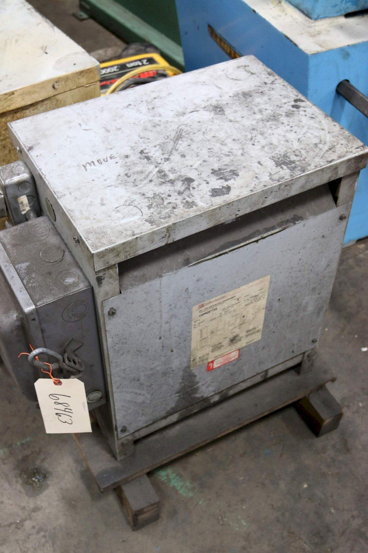 15 KVA TRANSFORMER 480D TO 208Y/120: STOCK 68463