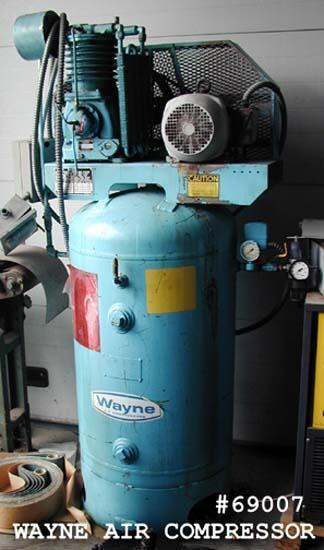 (1) PREOWNED WAYNE 5 H.P. AIR COMPRESSOR, MODEL #: 5000, S/N: 4005X17660