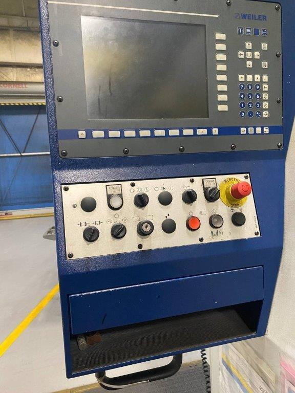 USED, WEILER MODEL E90 CNC HOLLOW SPINDLE LATHE