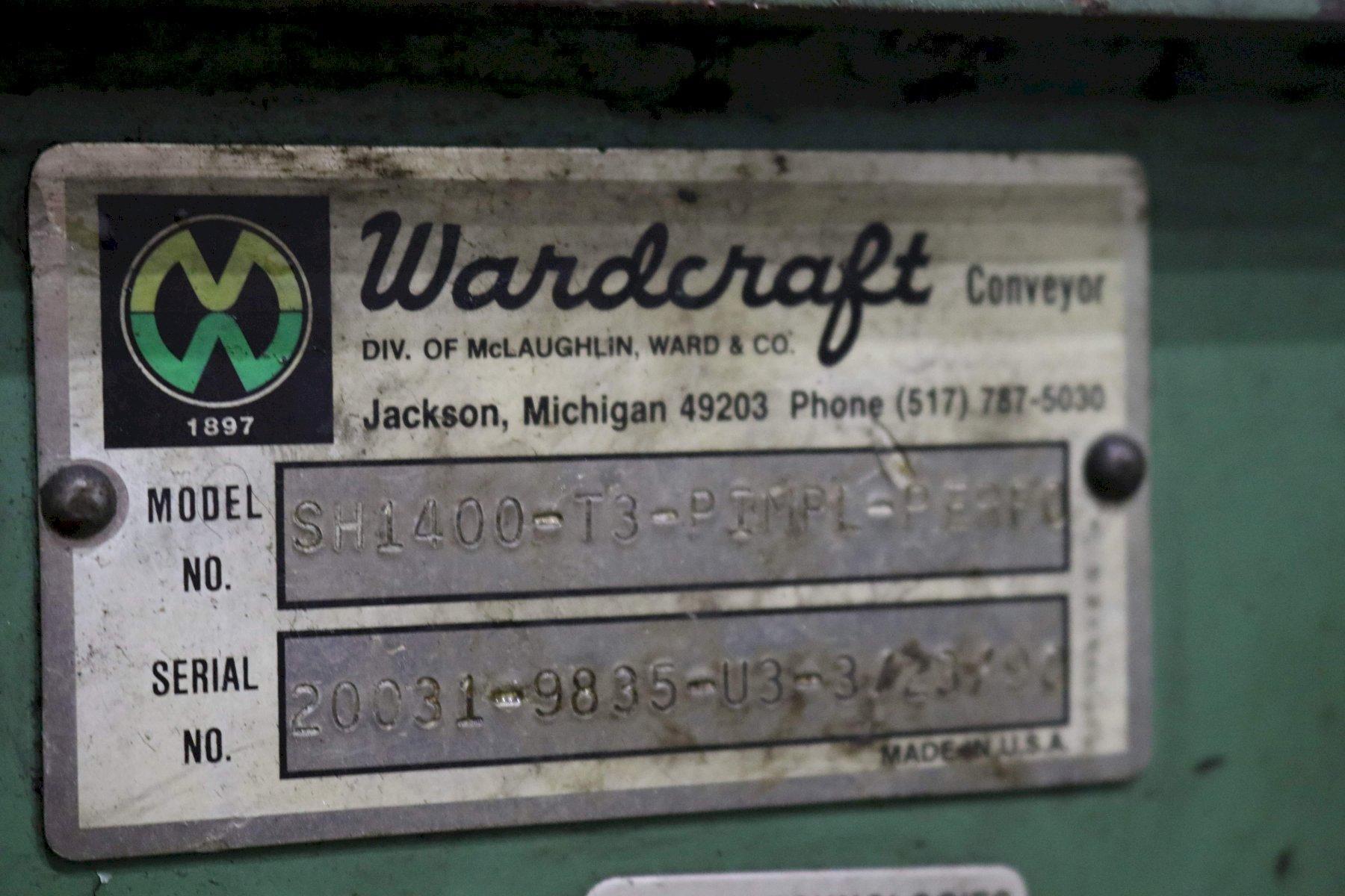 WARDCRAFT STEEL CLEATED CONVEYOR: STOCK # 72837