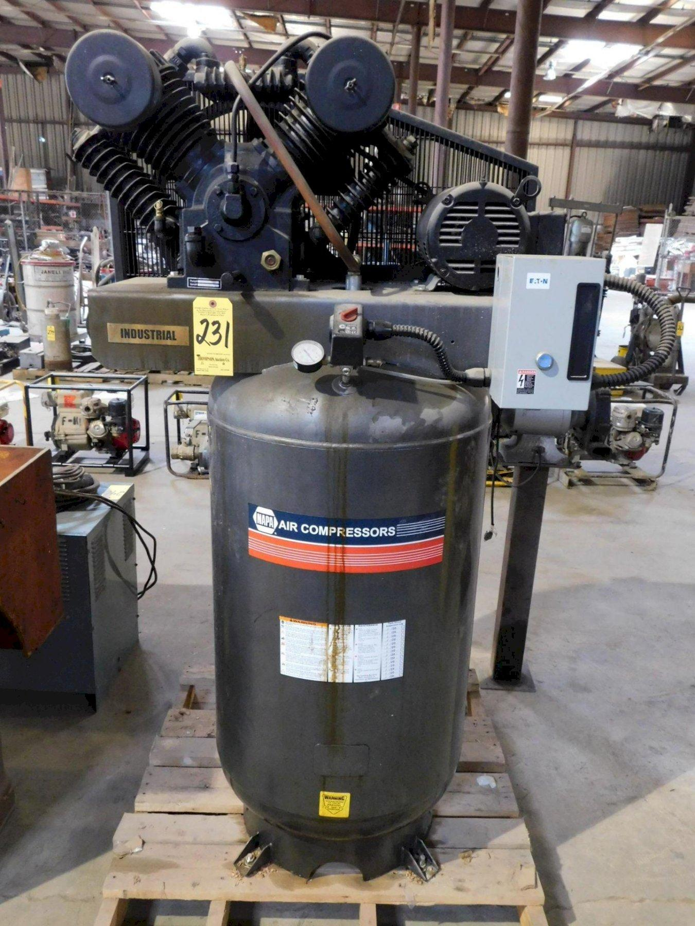 7-1/2 HORSEPOWER NAPA VERTICAL AIR COMPRESSOR: STOCK #73144