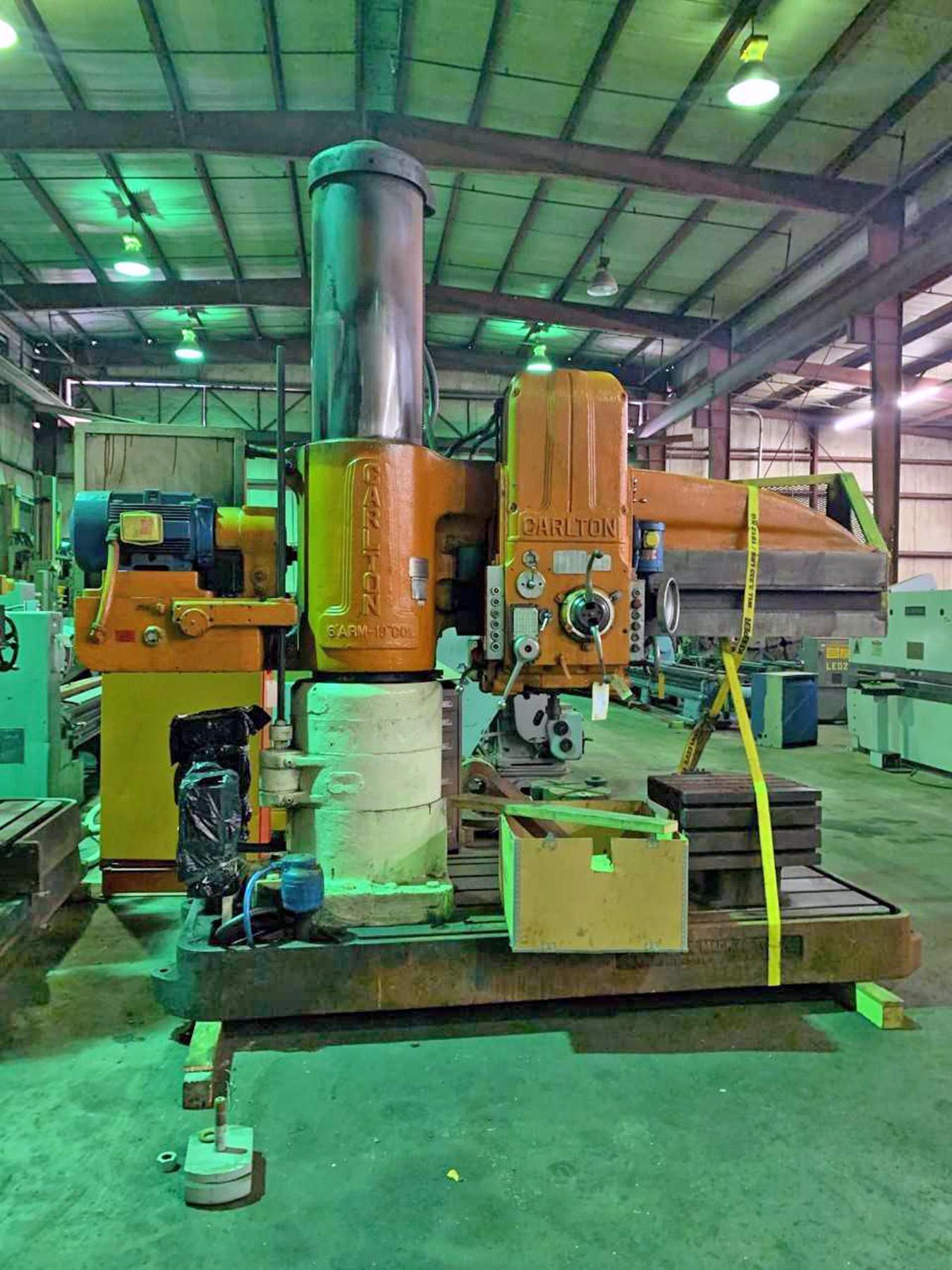 "USED, 6' 19"" CARLTON RADIAL ARM DRILL"