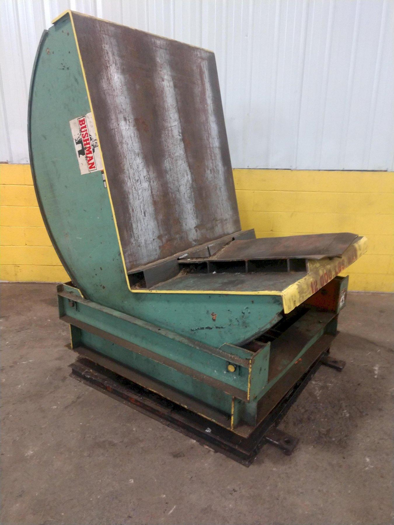 12,000 LBS BUSHMAN COIL FLIPPER / UPENDER WITH BASE ROTATION: STOCK #14203