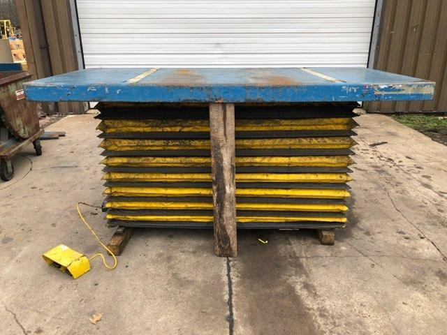"2000 LB  X  48"" X 96"" SOUTHWORTH ELECTRIC HYDRAULIC SCISSOR LIFT TABLE: STOCK #11540"