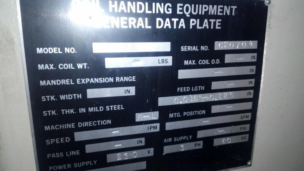 """6"""" x .125"""" CWP Powered Straightener Model 6B"""