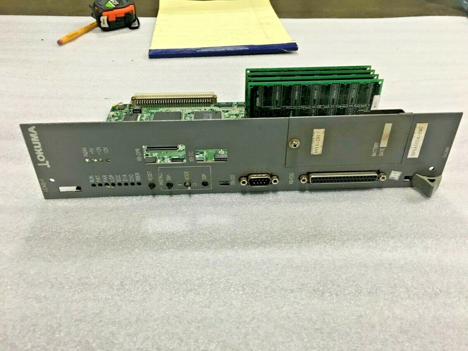 OKUMA A911-2801 OPUS7000 Universal Compact Maim Board, Okuma OPUS7000 UCMB+F, 1911-2801-12-54, E4809-770-110-F