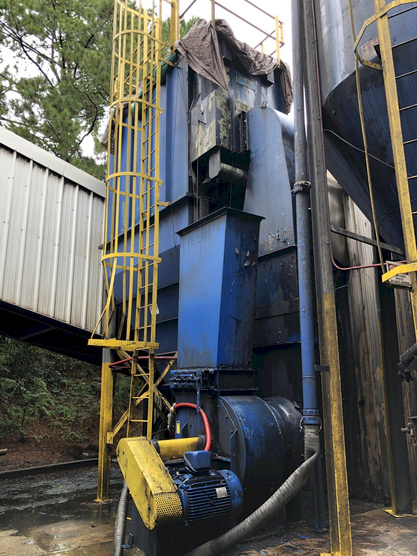 DUSTEX MODEL 3630-11-8 60 HP PULSE BAG DUST COLLECTOR S/N A301039, RATED AT 15,000 CFM