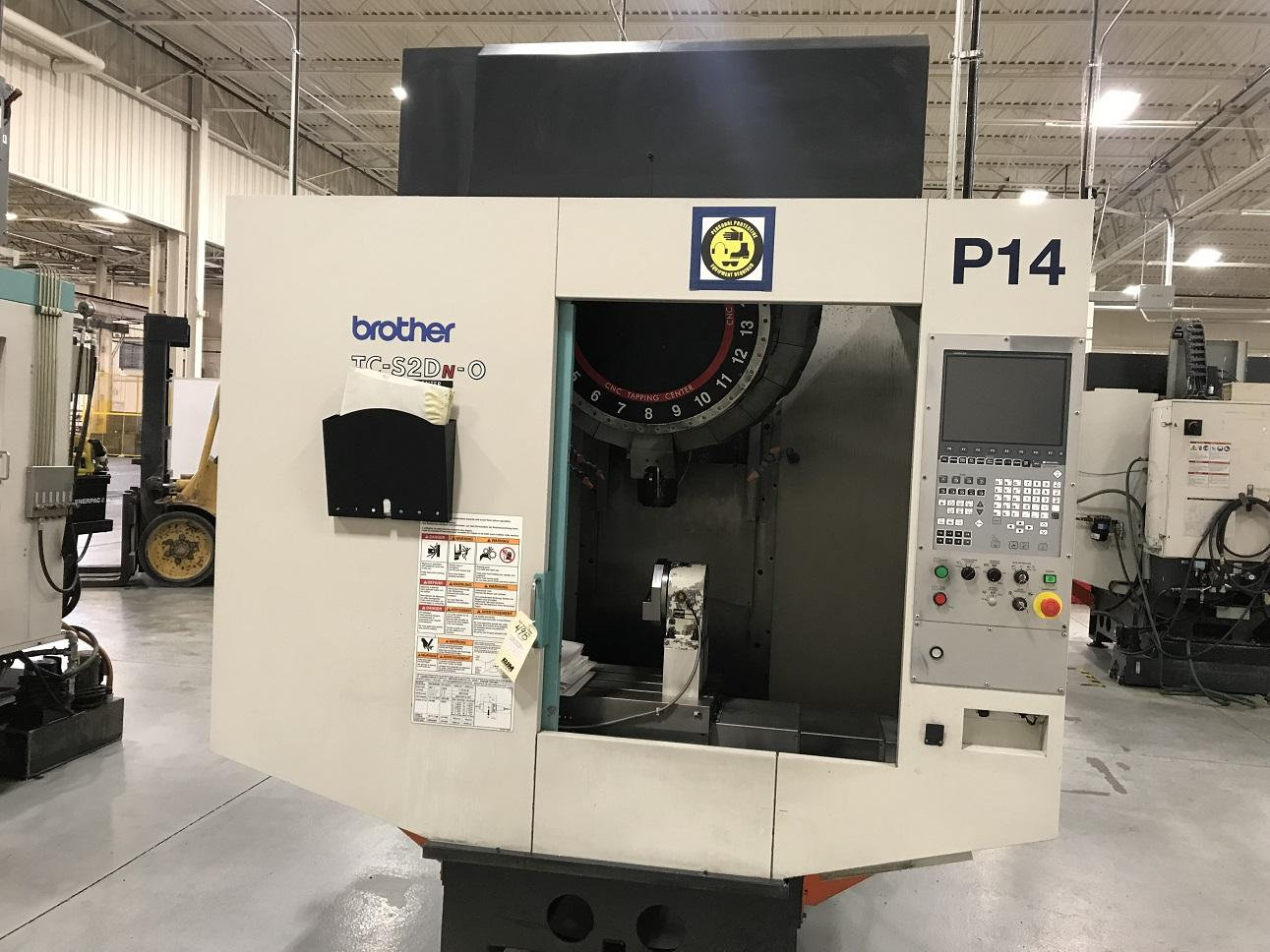 """Brother TC-2SDN-O CNC Drilling & Tapping Center, B00 Control, 27.6""""/15.7""""/11.6"""" Travels, 10K RPM, 21 ATC, 30 Taper, 6"""" Rotary Table, Clnt, 2013"""