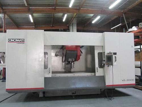 CINCINNATI 5-AXIS CNC VERTICAL PROFILING/CONTOURING MACHINING CENTER, Model Lancer V5-2000, 15000 RPM, New 1999.