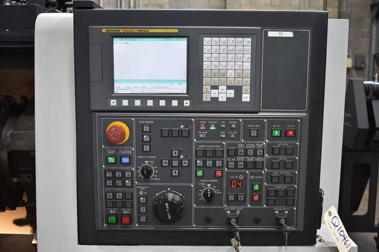 "DOOSAN LYNX 300, Fanuc 0i CNC Control, Royal Collet Chuck, 25"" Max Swing, 30"" Between Centers, 2"" Bar Capacity, 12 Position Turret, Chip Conveyor, New 2011."