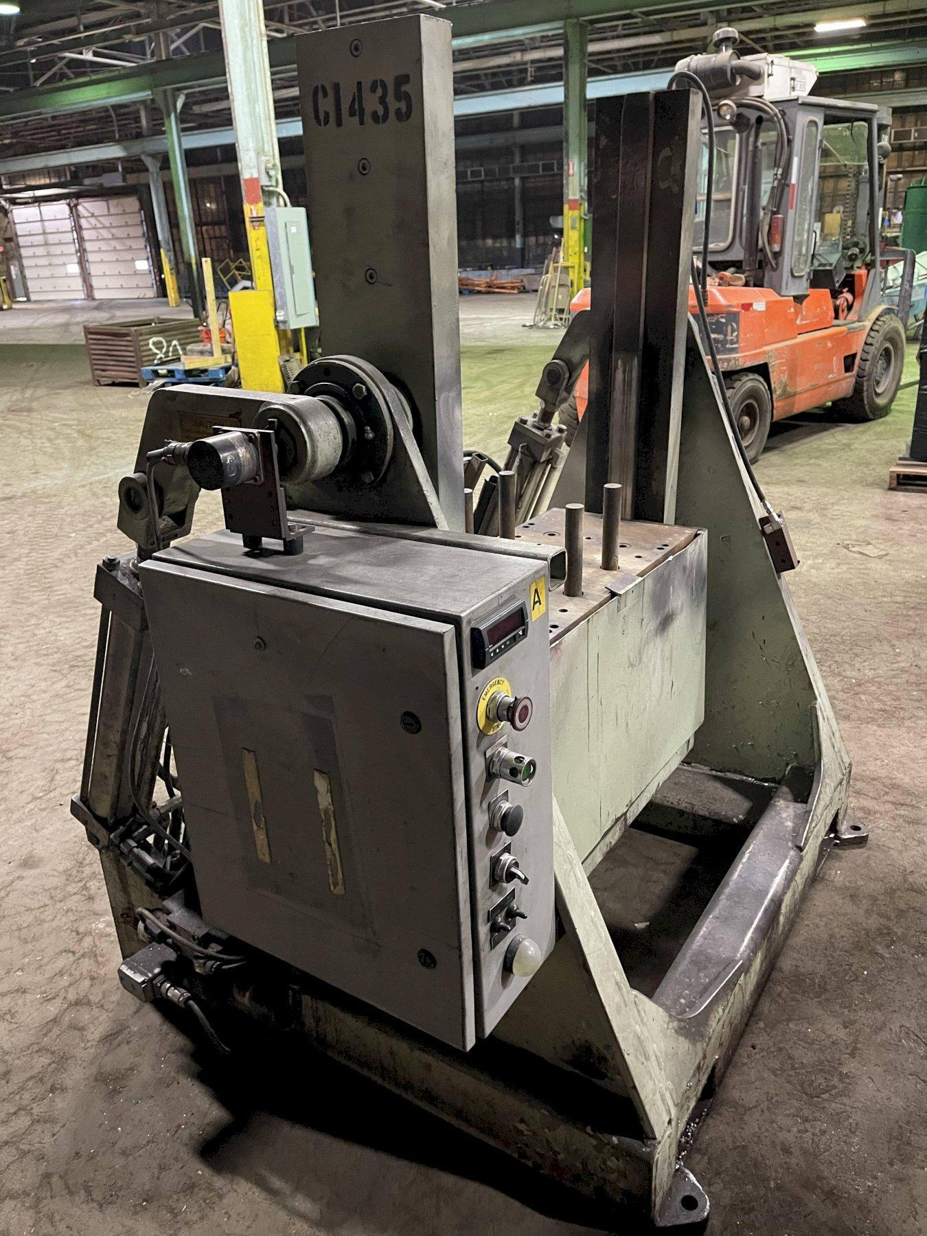 """Hall model RT3 permenant molding machine with controls s/n 6414, 33"""" x 20"""" platen"""