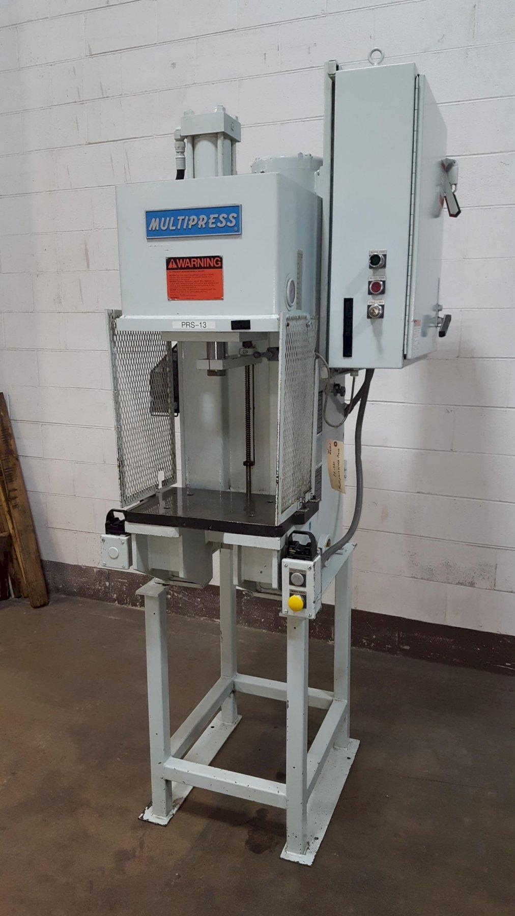 8-Ton Multipress Model W4R87M C404FS1 Bench Mounted Hydraulic Press