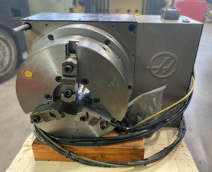 "18"" HAAS 4TH AXIS ROTARY TABLE INDEXER, Model HRT-450, 18"" 3-Jaw Chuck, 17.7"" Platen, Cables Included, New 2011."