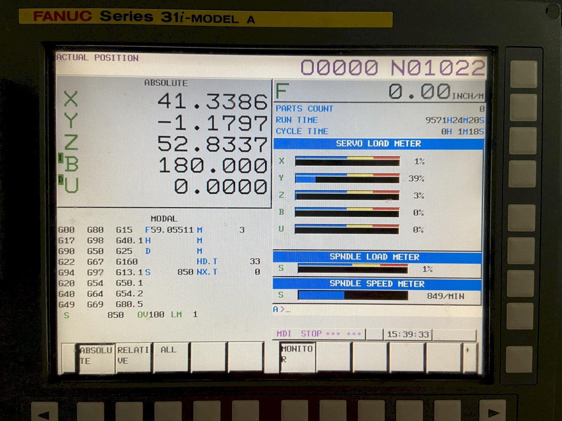 Doosan HM 1000 CNC Horizontal Machining Center