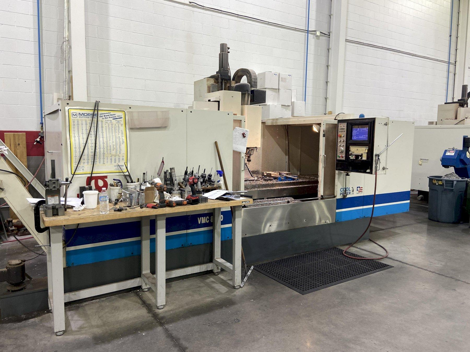 Fadal 8030HT CNC Vertical Machining Center, 32MP Control, 80