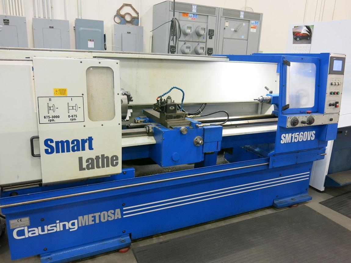 "15"" Clausing Metosa Smart SM1560VS CNC Engine Lathe, Capacity: 15' x 60"", GE Fanuc Touch Panel Control, New 2005"