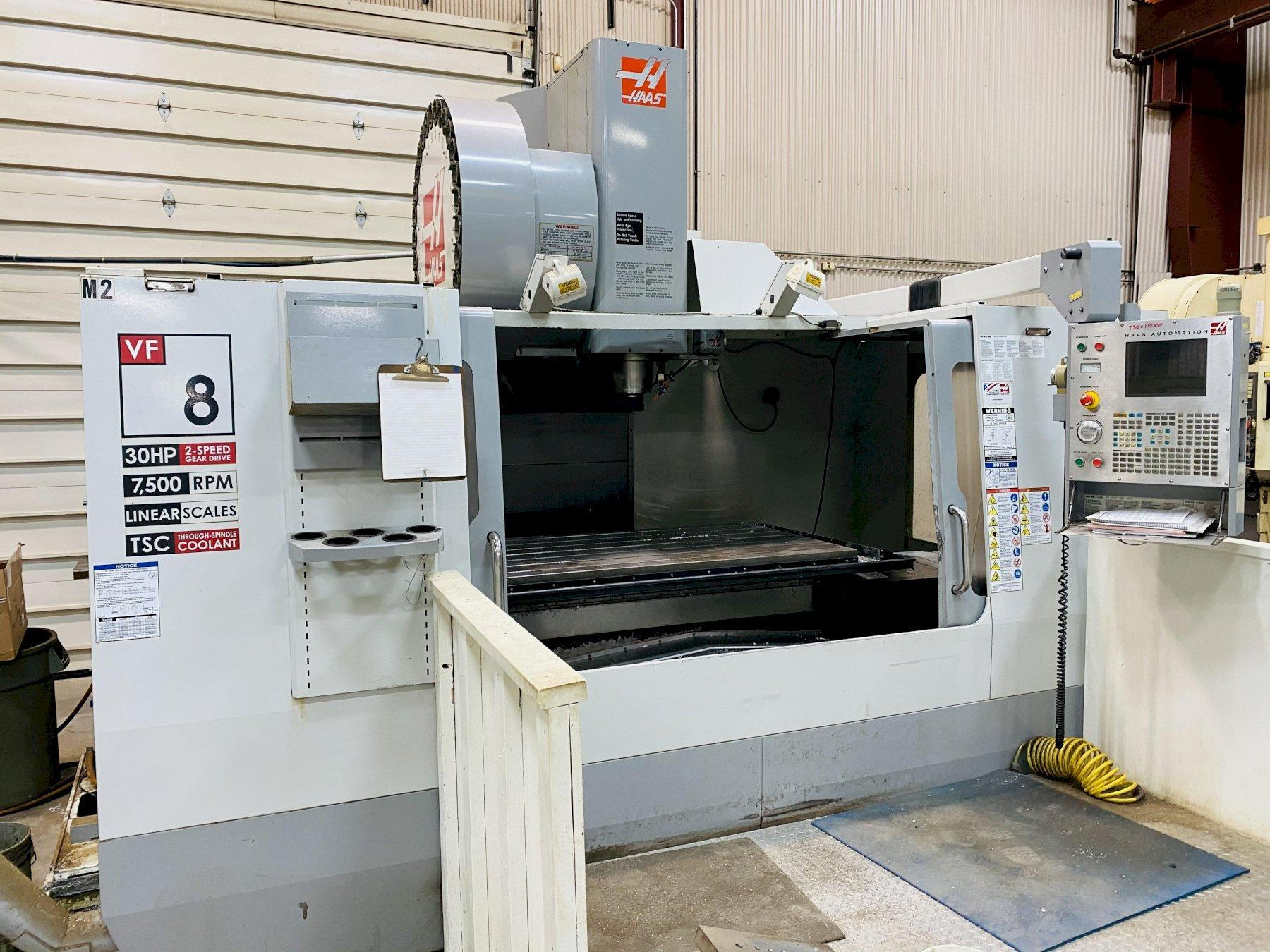 HAAS VF-8/50 CNC VERTICAL MACHINING CENTER. STOCK # 1264520