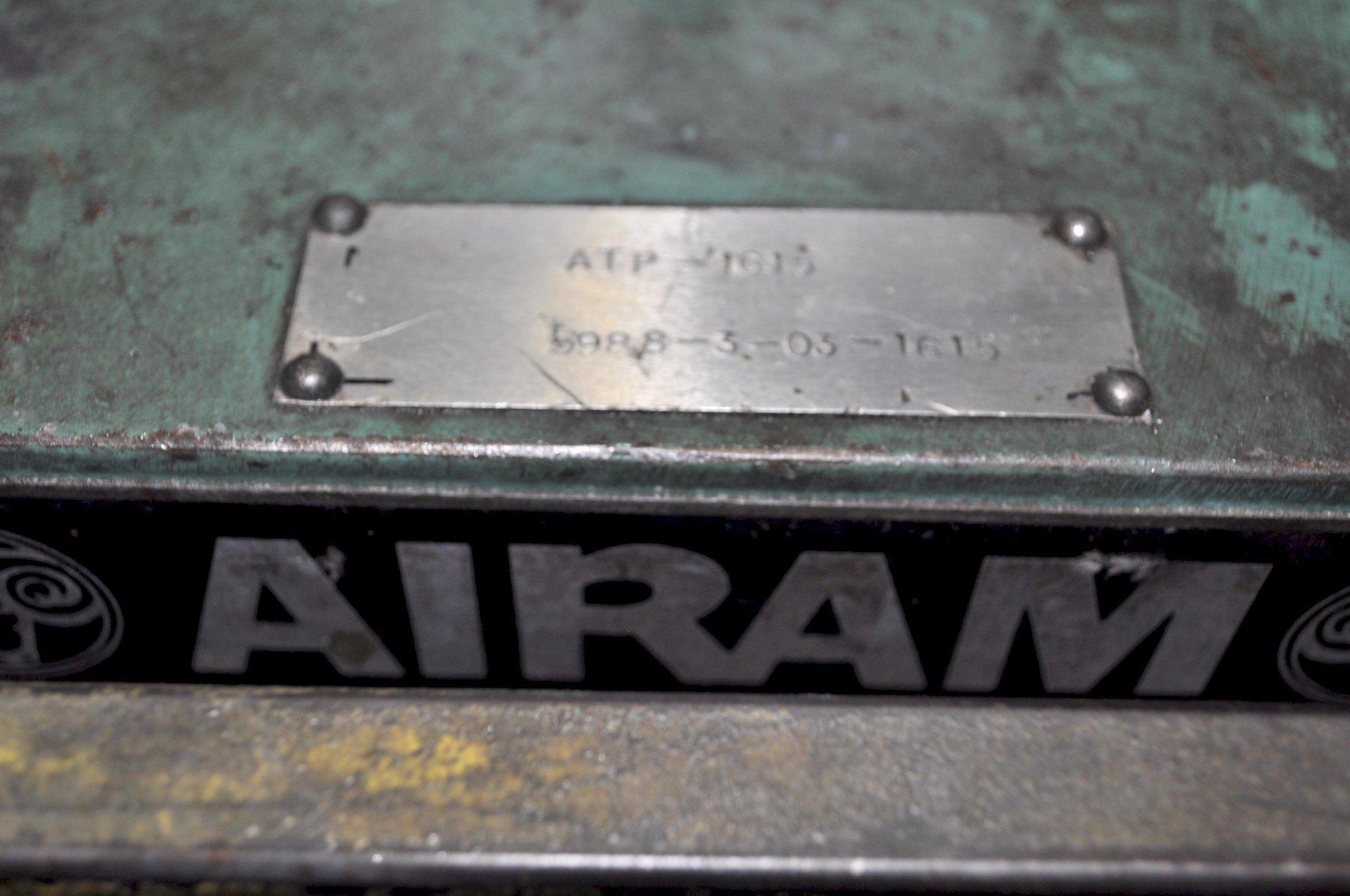 60 TON AIR RAM CUT-OFF PRESS WITH ADJUSTABLE TILT BASE