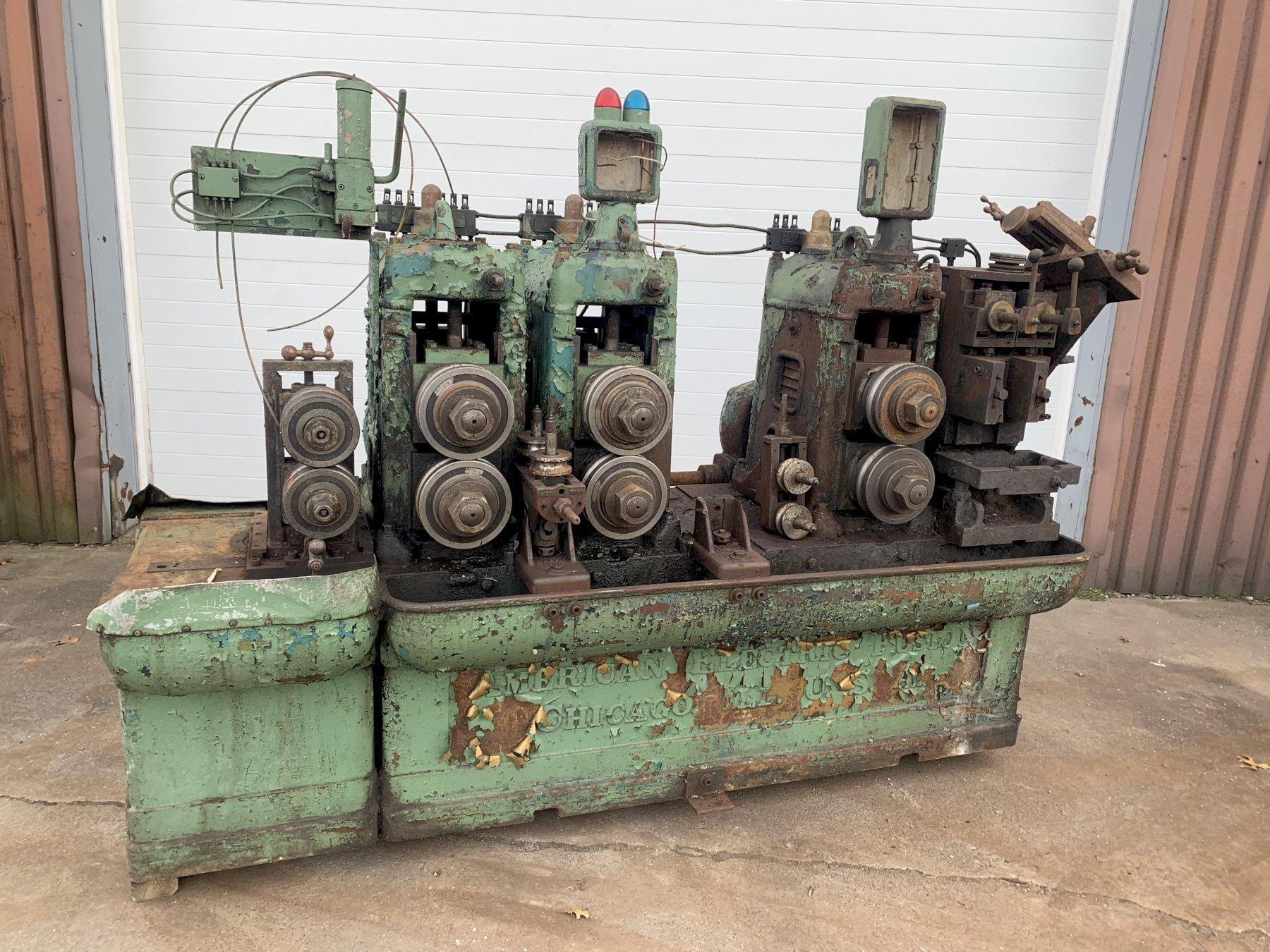 8 STAND AMERICAN ELECTRIC FUSION TUBE MILL / ROLLFORMER: STOCK #11950