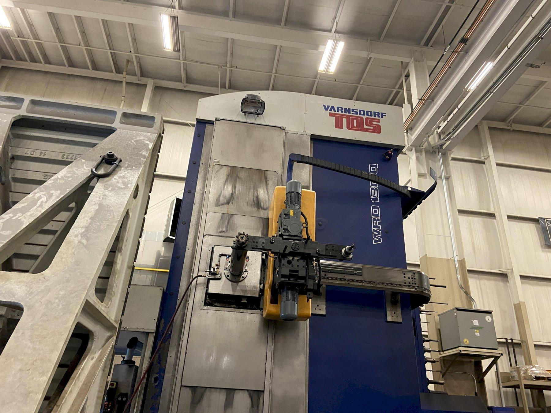 "TOS Varnsdorf WRD-130Q CNC Floor-Type Horizontal Boring Mill, Heidenhain iTNC530 , 5.12"" Spindle, 60 ATC, 196""/118""/39"" Travels, CTS, Probe, Auto Count, 2015"