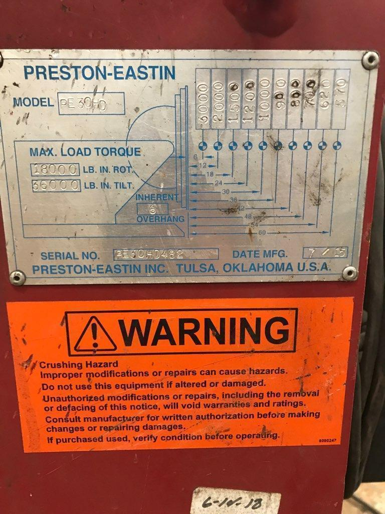 3,000 Lbs. Preston-Eastin Welding Positioner