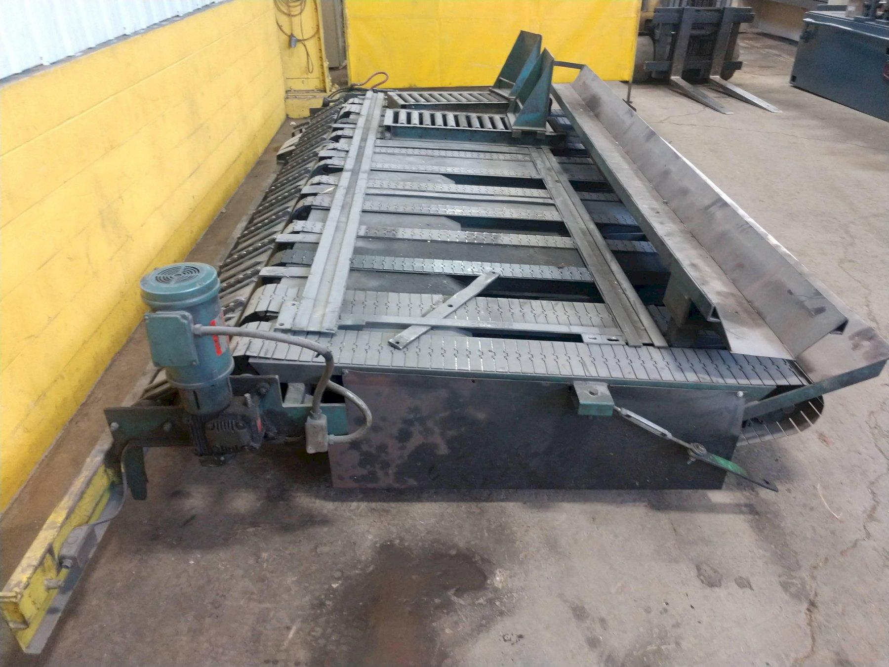 "12' X 1/4"" CONTINENTAL SHEAR CONVEYOR & STACKER: STOCK 14507"