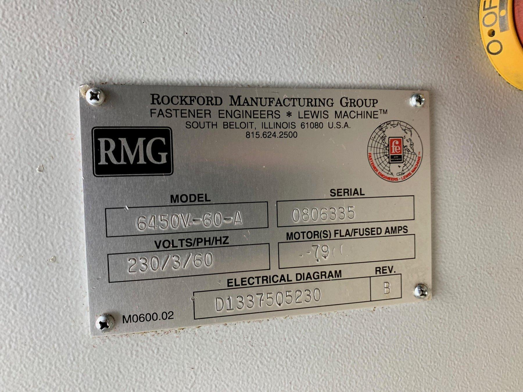 RMG MODEL 6450 POWERED WIRE PAYOFF/TURNTABLE