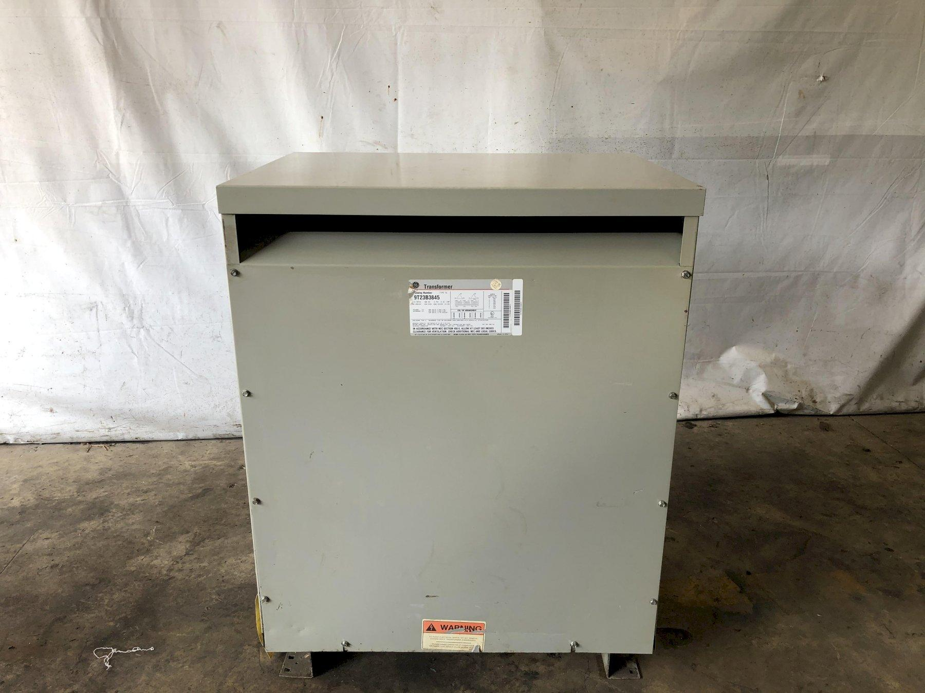 112.5 KVA 480 TO 240 VOLT 3 PHASE ELECTRICAL POWER TRANSFORMER: STOCK #13765