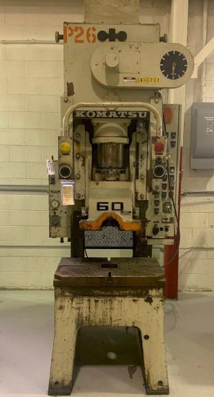 Komatsu OBS-60 C-Frame Press, Used