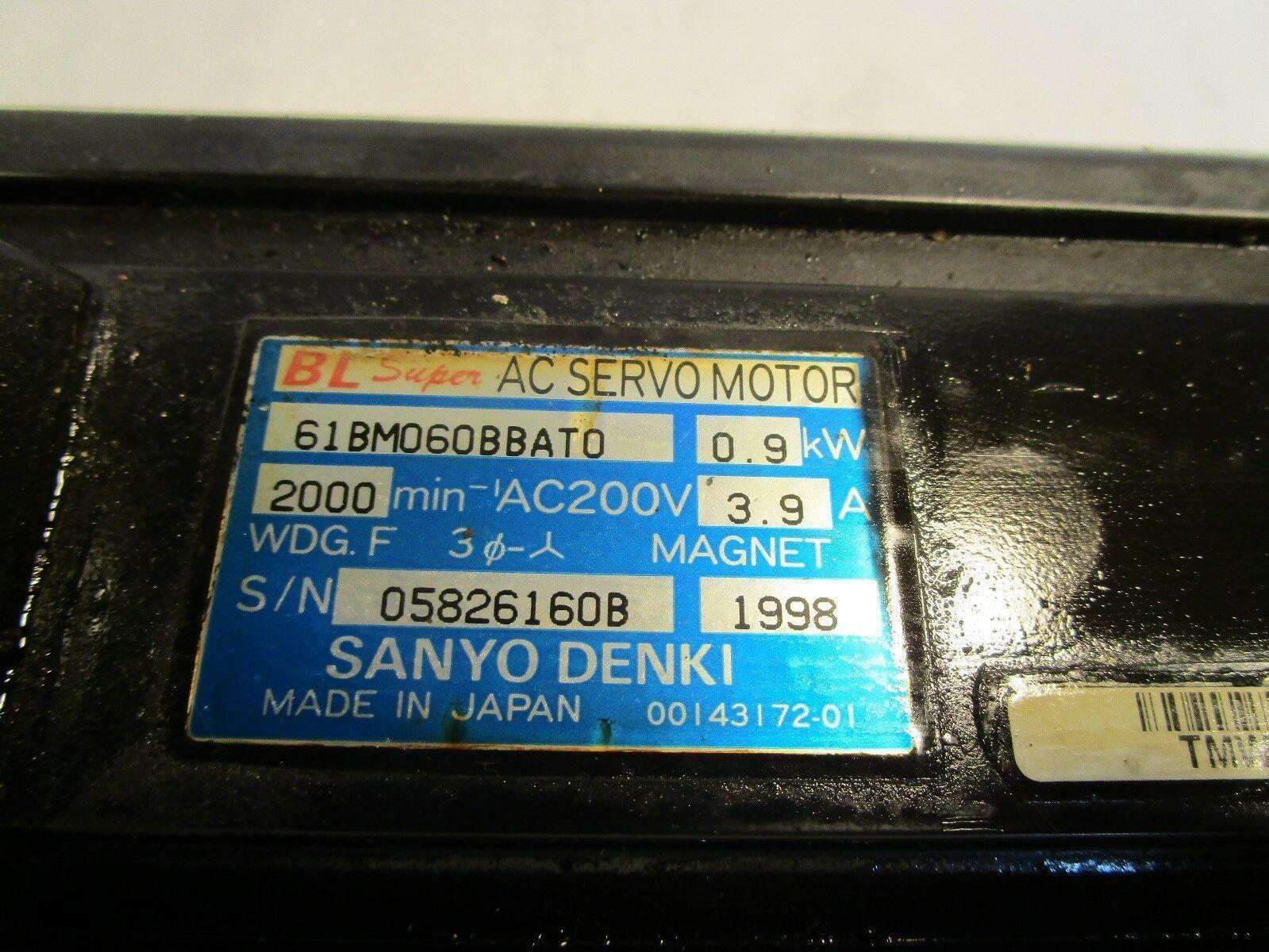 Sanyo Denki AC Servo Motor 61BM060BBATO
