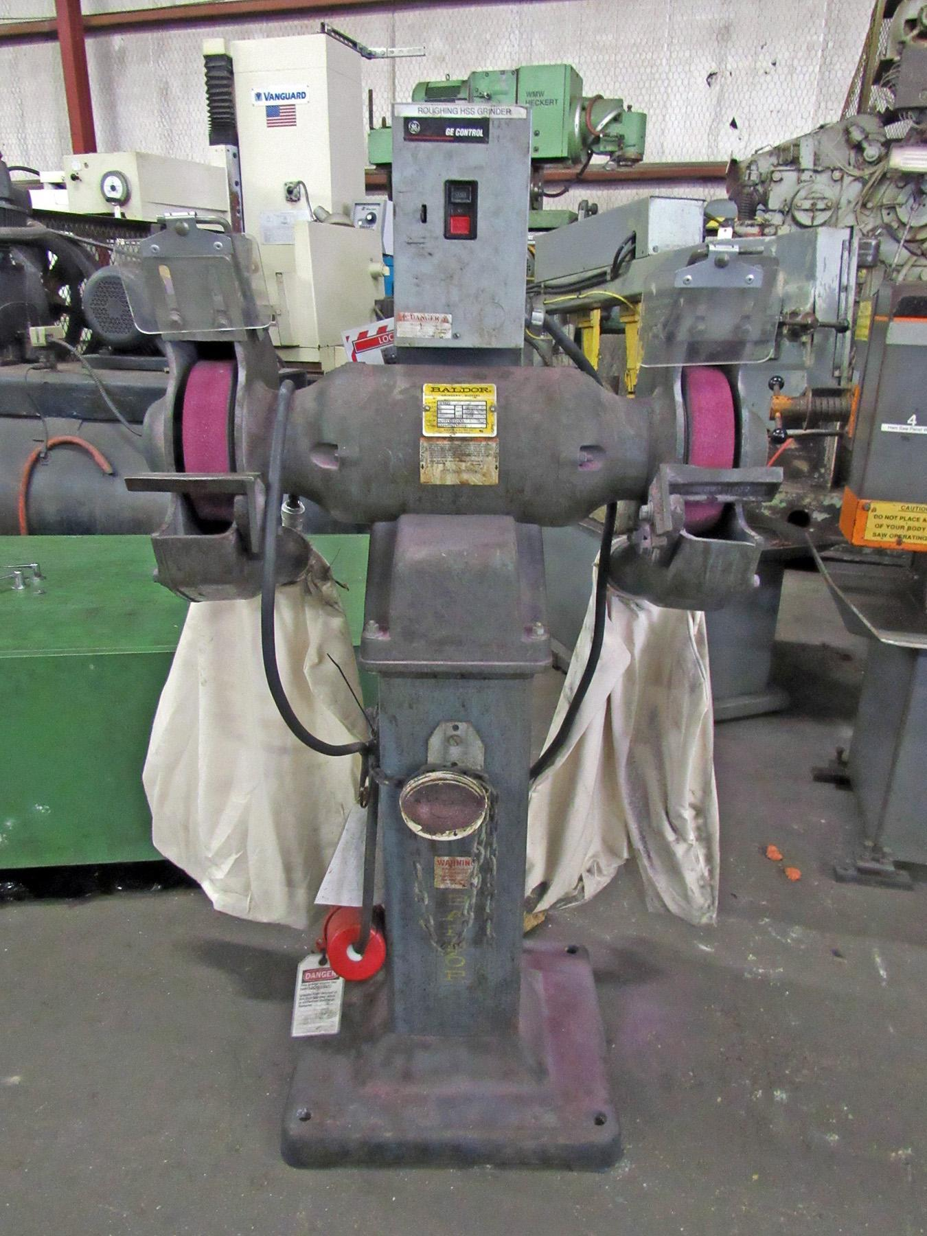 USED, BALDOR MODEL 1217W DOUBLE END PEDESTAL GRINDER