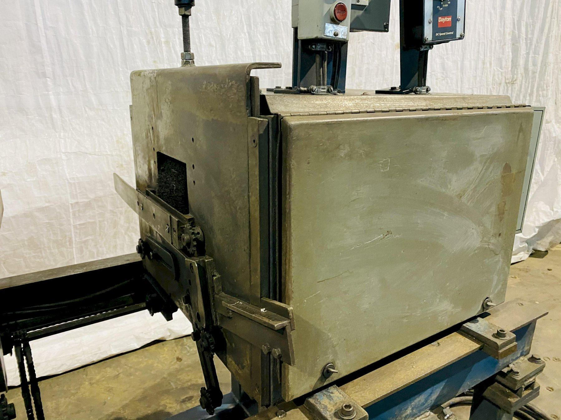 """36"""" ACCURATE MODEL 52 DOUBLE END DEBURRING MACHINE. STOCK # 1056620"""