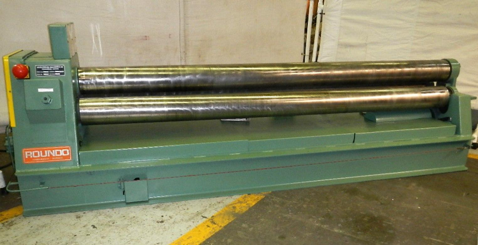 """1/4"""" x 10 ft. Used Roundo Plate Bending Roll, 3 Roll Double Pinch Model PS 205/10"""